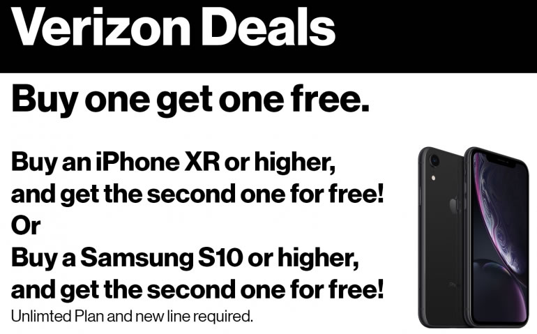 Verizon free phone ad